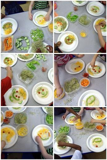 Fruit and Veg Faces on Plates