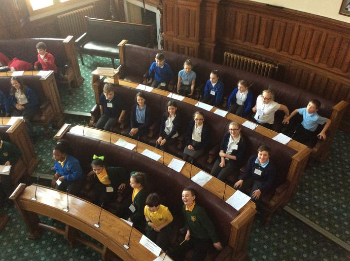 Here we are in the council of chambers!