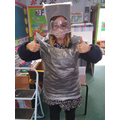 Miss Cox taking all precautions seriously!