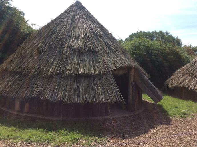 A traditional roundhouse.