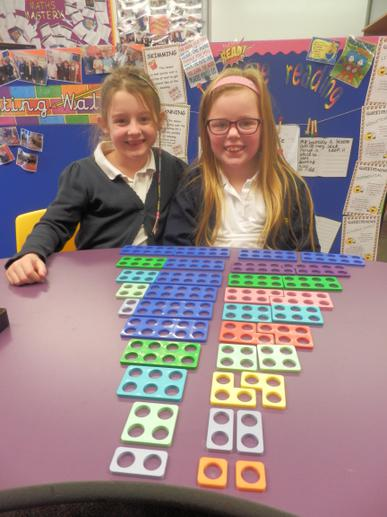 We've used Numicon to help with our Maths.