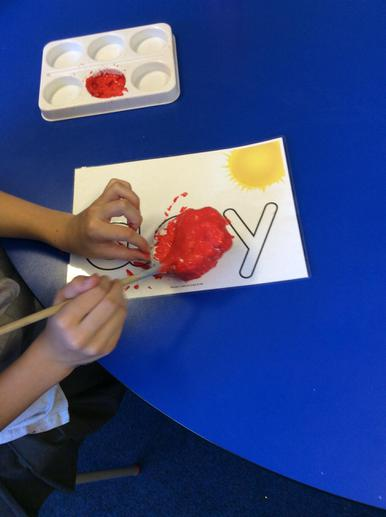 We painted stones and made ladybirds.