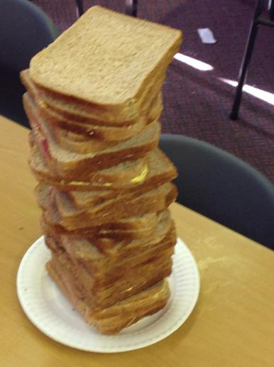 We made a GIANT jam sandwich fit for a giant