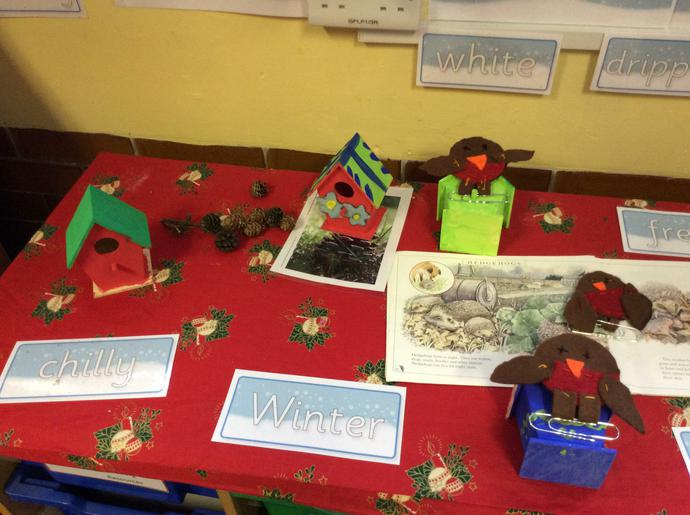 Do you like our wild bird houses we decorated?