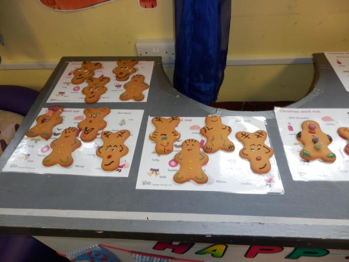 Some are ginger bread men.