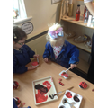 We have been creating are very own ladybirds.