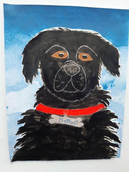 Betty has inspired a beautiful painting
