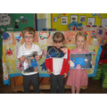 "Reception ""selfie art"" winners"