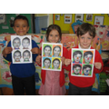 "Year 2 ""selfie art"" winners"
