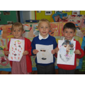 "Year 1 ""selfie art"" winners"
