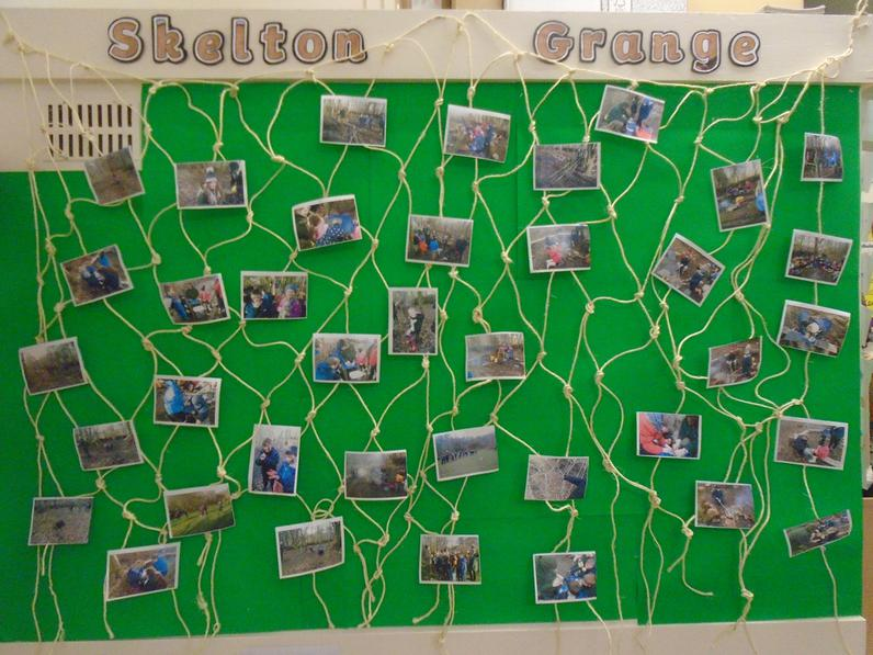We made this net ourselves at Skelton Grange.