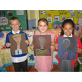"Year 3 ""selfie art"" winners"