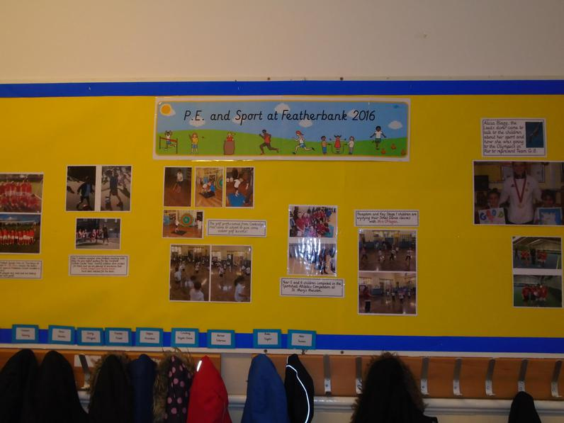P.E. and sport display.