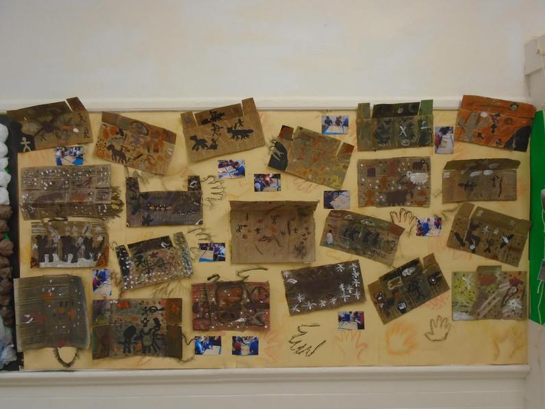 Year 4's amazing cave paintings.
