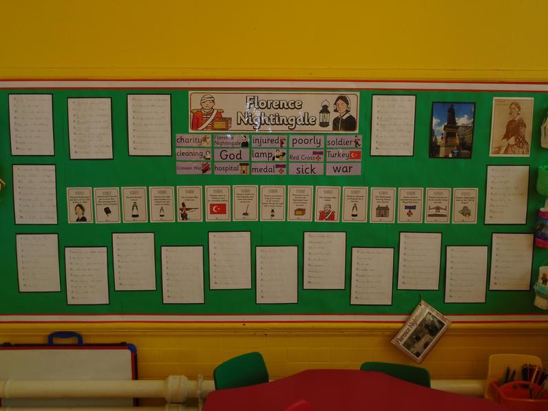 Year 2 Florence Nightingale work.