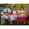 "Year 6 ""selfie art"" winners"