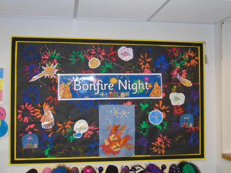 Reception Bonfire Night art work.