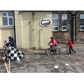 We had fun learning new bike & scooter skills.