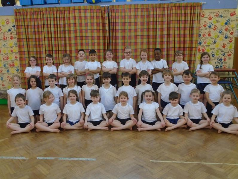 How smart we look, all in correct PE kit!