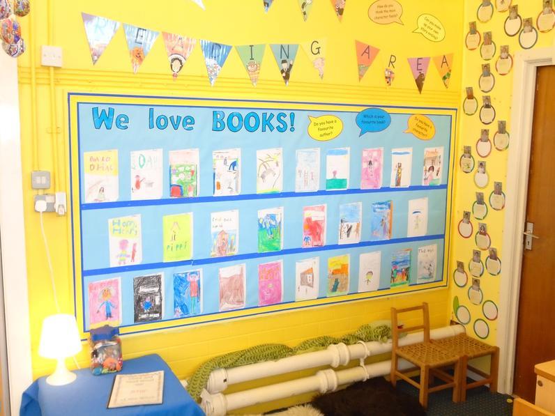 Year 2 children love books!
