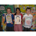 "Year 4 ""selfie art"" winners"