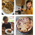 Faith:Turkey curry, naan, rhubarb cheesecake