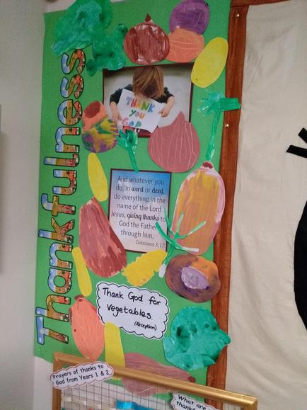 Paintings of fruit and veg by Ash Class