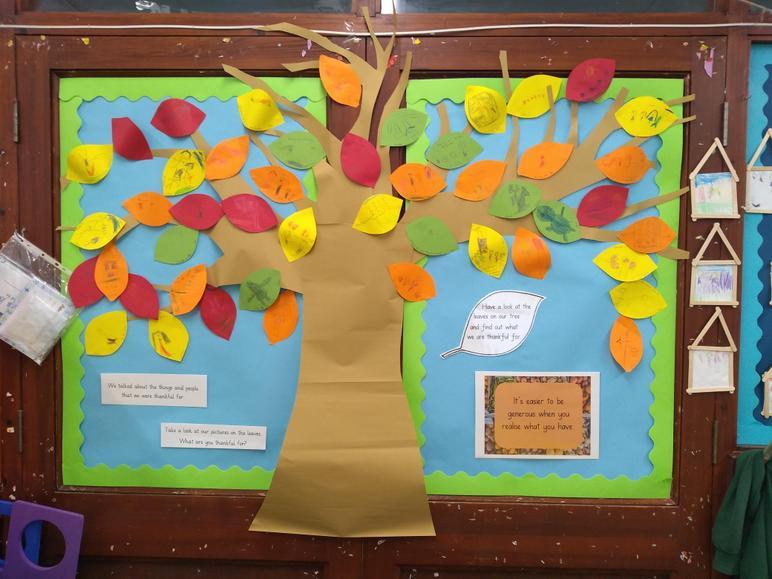 Year 1 - Tree of thankfulness