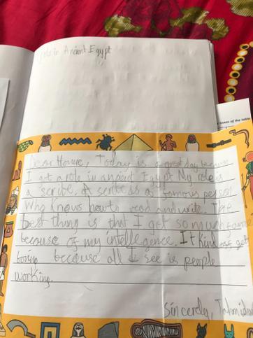 Tahmidur's Letter Home