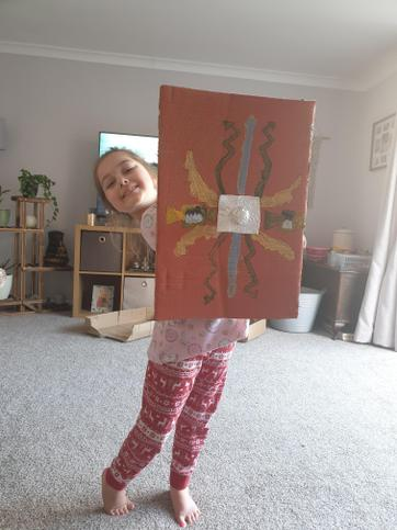 Well done Daisy for making a Roman shield