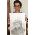 Talented artist Sudiksha