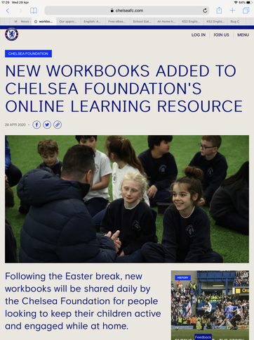 Chelsea Football Club have some free resources.