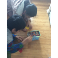 Sufyan making Hama Beads