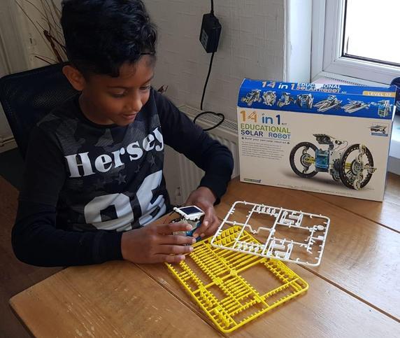 Making a solar powered robot!
