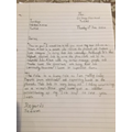 Jeevan's letter about his new job in Ancient Egypt