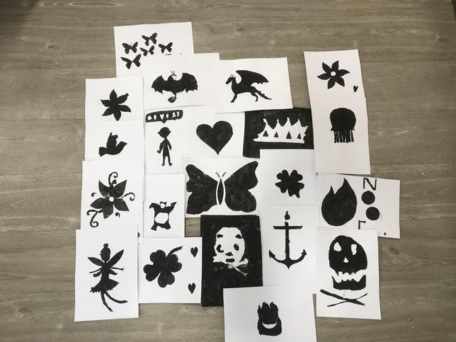 Cutting out these templates was very tricky!