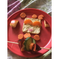 Akshara's healthy snack! Well done!