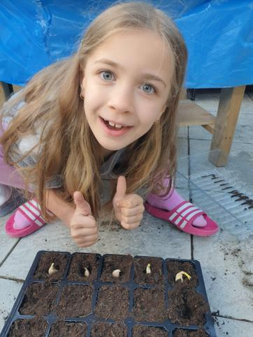 Melissa planted some seeds on the 10th May 2020.