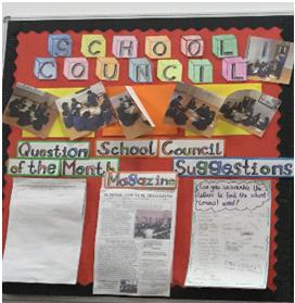 School Council Noticeboard in Main Hall