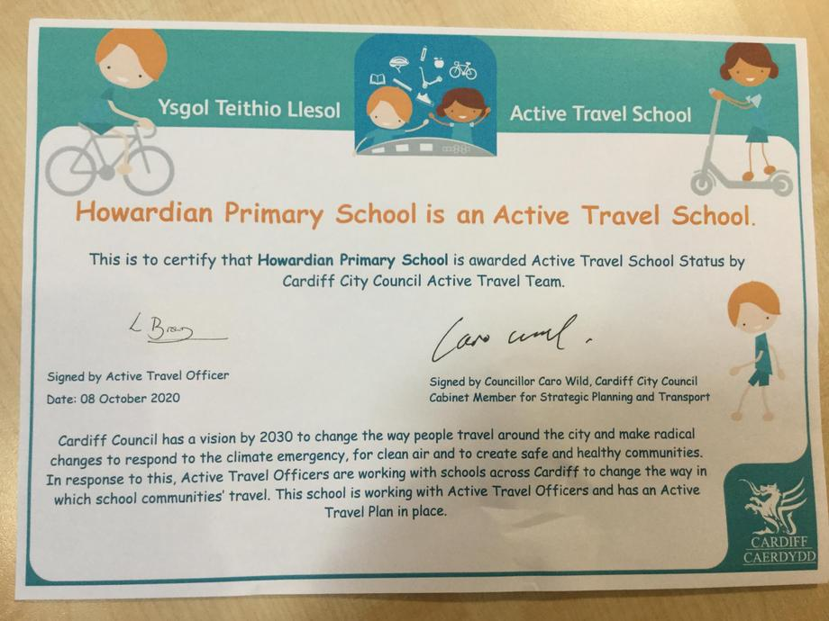Active Travel School Award