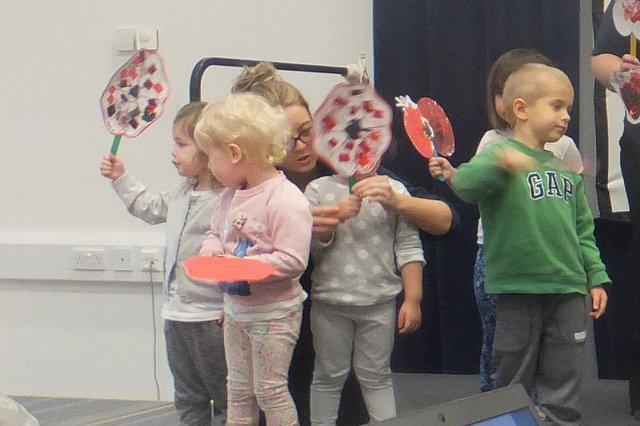 Day Care joined in with their poppies