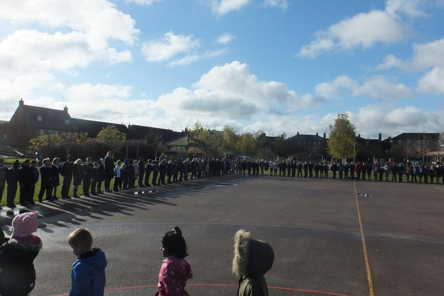2 minutes silence outside on the playground