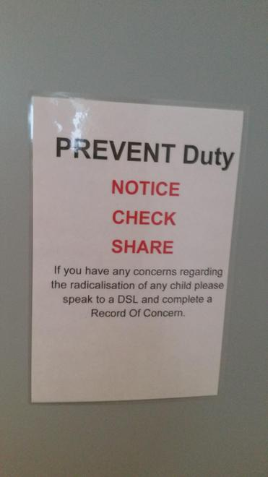 Key information on back of toilet doors