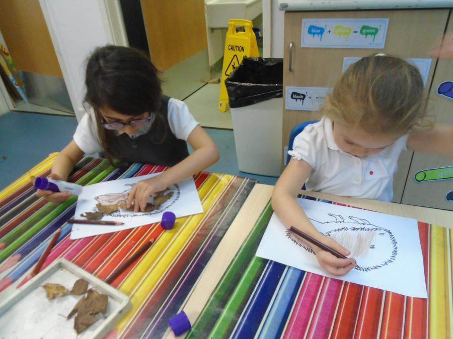 Carefully creating headgehogs!