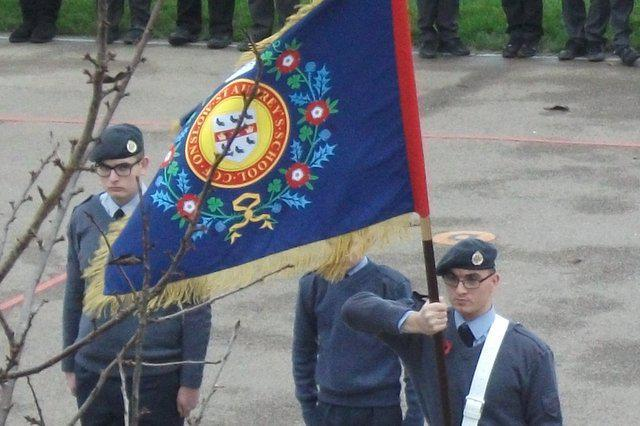 The cadet's banner was a focal point