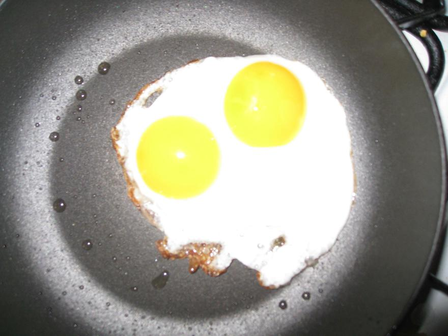 Happy chickens, double yolks!