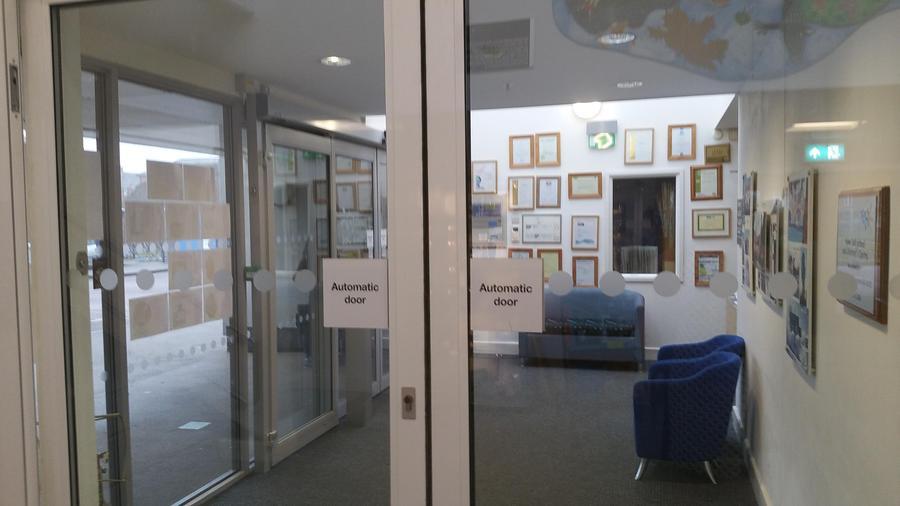 Internal doors open access above child height