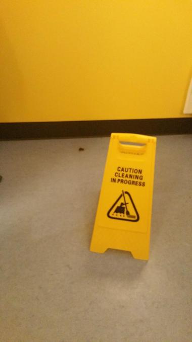 Wet floor!