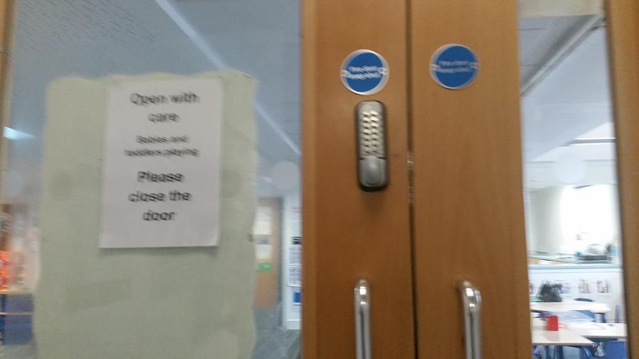 Door codes to zone site when needed