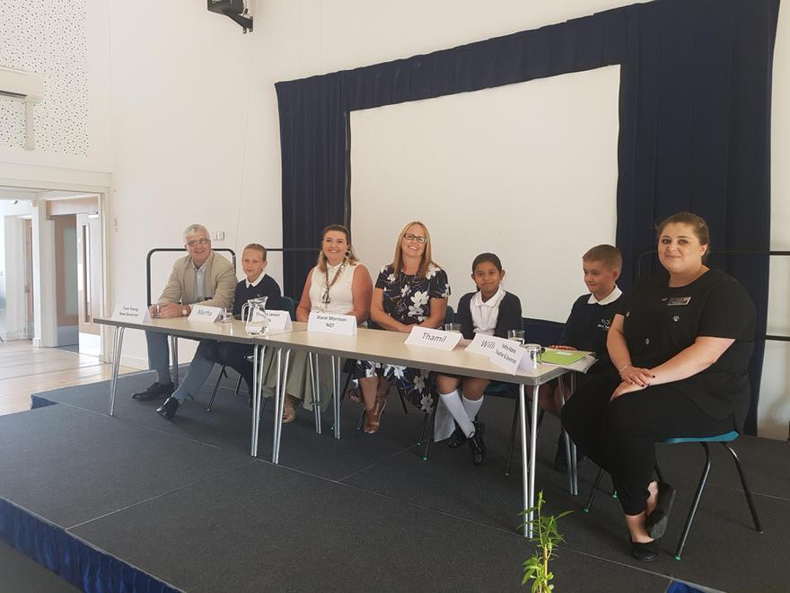 The panel included staff, pupils and governors